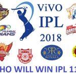 IPL 2018 All Match Prediction