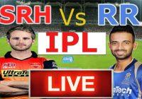 SRH vs RR Live Streaming