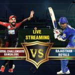 RCB vs RR Live Streaming